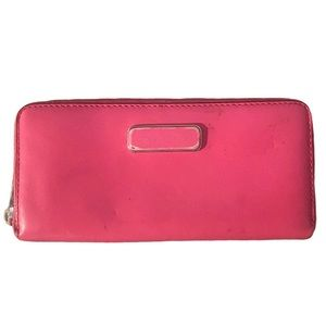 Marc By Marc Jacobs   pink zip up wallet